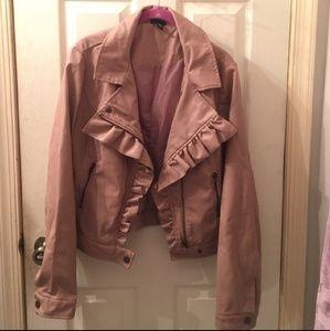 Pink Ruffle Leather Jacket RUE21
